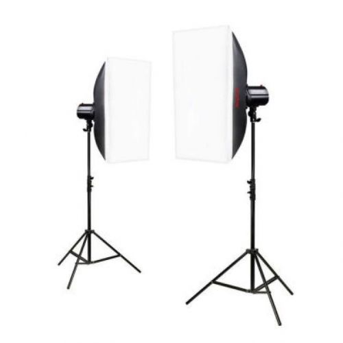 160 watts studio strobe x 2 with stand and softbox