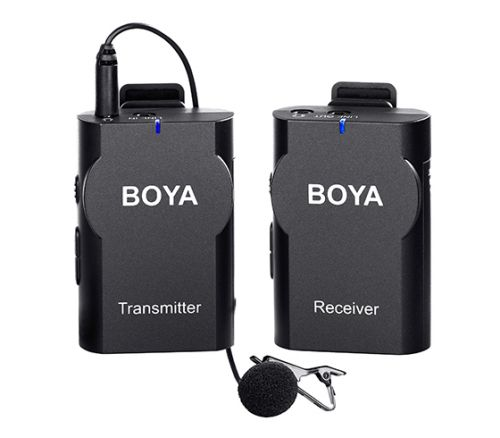 Boya BY-WM4 Professional Wireless Microphone System Lavalier Lapel Mic for Canon Nikon Sony DSLR Camcorder Recorder