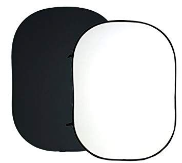 Rental - Collapsible White and Black Backdrop