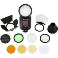 Godox V1 Round Head Flash  with AK-R1 Accessory Kit