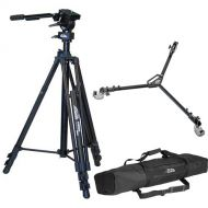 kaka Video Tripod, Fluid Head & ( free dolly for every purchase ( while stock last )