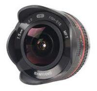 Samyang 7.5mm Fisheye - 4/3 Mount (Black or Silver)