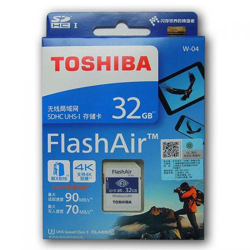TOSHIBA W-04 Memory Card Wireless LAN32GB WI-FI SD Card U3 UHS Speed Class 3 FlashAir Wireless SD Memory Card