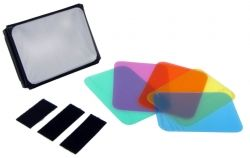 Soft box with gel set ( blue , green , red , yellow, orange , purple )