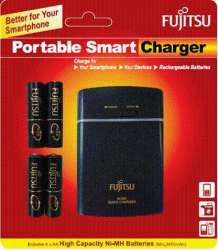 Fujitsu 2450 mah Battery + Charger /powerbank