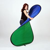 Collapsible Backdrop 1.5mx 2m ( Green/Blue)