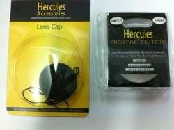 Hercules 40mm UV Filter + Lens Cap Bundle Kit