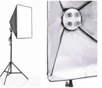Continuous Lighting Softbox with 4X85W Bulbs + Stand